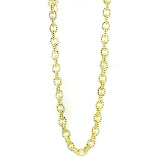 Goldtone Beaded Cable Link Chain
