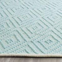Safavieh Hand-Woven Montauk Turquoise/ Ivory Cotton Rug - 3' x 5'