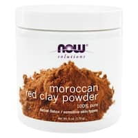 Now Foods Solutions Moroccan Red Clay Powder 6-ounce Skin Mask