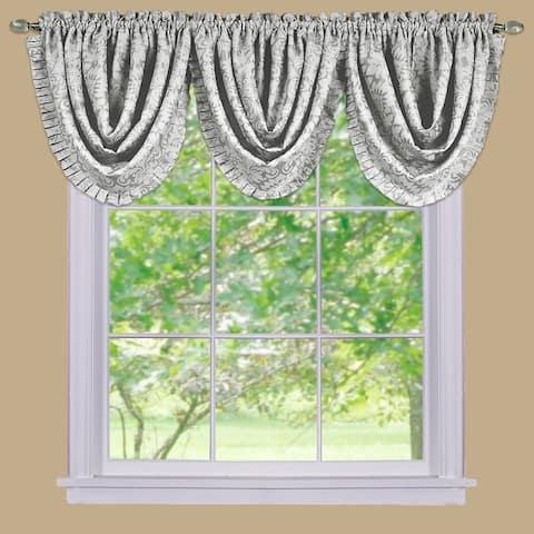 Achim Sutton Window Curtain Waterfall Valance - 48x36