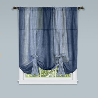 Achim Ombre Window Curtain Tie-up Shade (Blue)