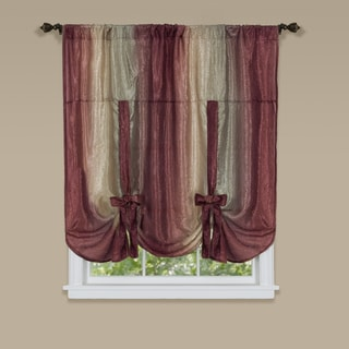Achim Ombre Window Curtain Tie-up Shade (Red)