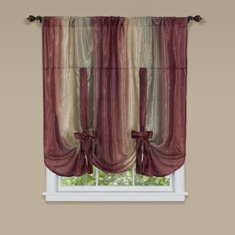 Achim Ombre Window Curtain Tie-up Shade