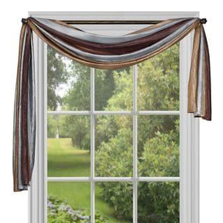 Achim ACHIM Ombre Window Curtain Scarf