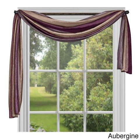 Achim ACHIM Ombre Window Curtain Scarf - 50x144