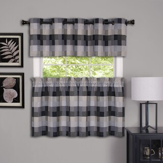 Achim Harvard Plaid Window Curtain Valance