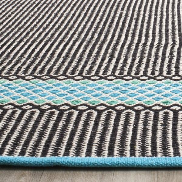 Safavieh Hand-Woven Montauk Turquoise/ Multi Cotton Rug (3' x 5')