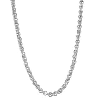 Gioelli Sterling Silver Thick Rolo 4.5mm 20-inch Chain Necklace