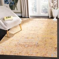 Safavieh Mystique Watercolor Gold/ Multi Silky Rug - 3' x 5'