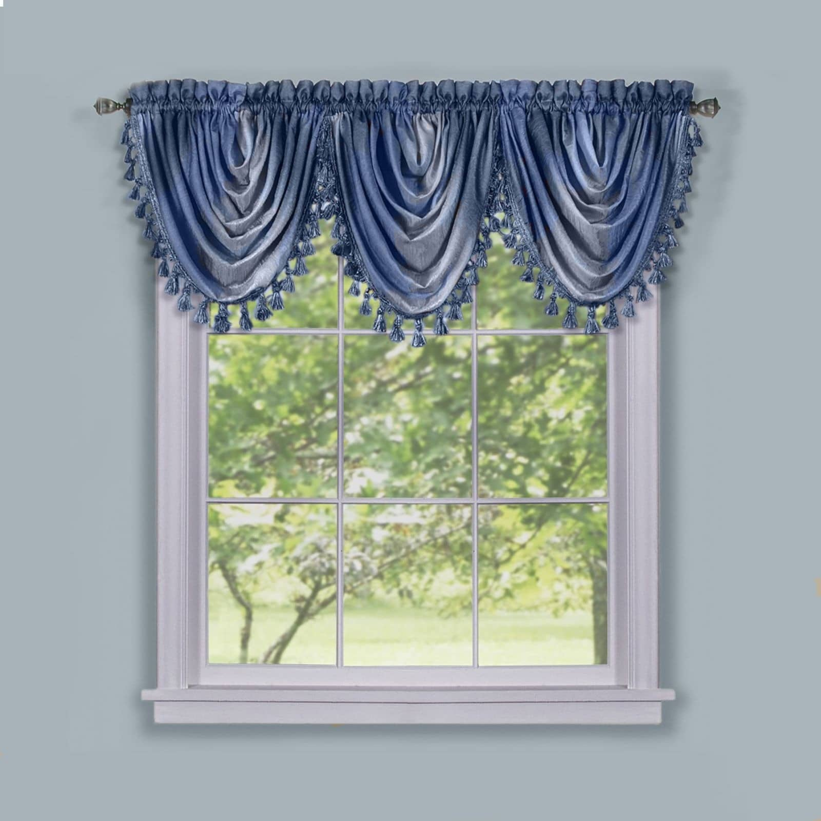 Achim Ombre Waterfall Windown Curctain Valance (46x42 - B...