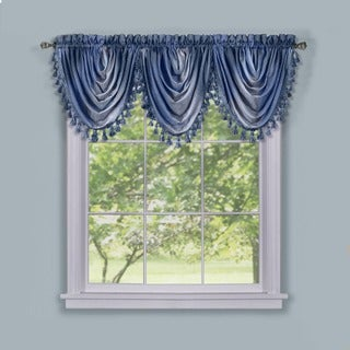 ACHIM Ombre Waterfall Windown Curctain Valance