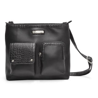 Sag Harbor Triple Play Vegan Leather Crossbody Handbag