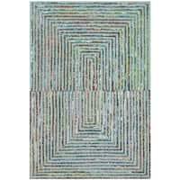 Safavieh Handmade Nantucket Teal Cotton Rug - 3' x 5'