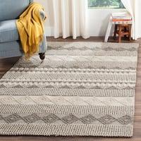 Safavieh Handmade Natura Grey/ Ivory Wool Rug - 4' x 6'