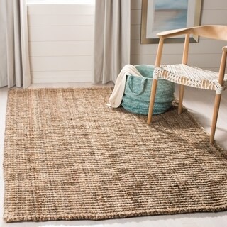 Safavieh Casual Natural Fiber Hand-Woven Natural / Grey Chunky Thick Jute Rug (4' x 6')