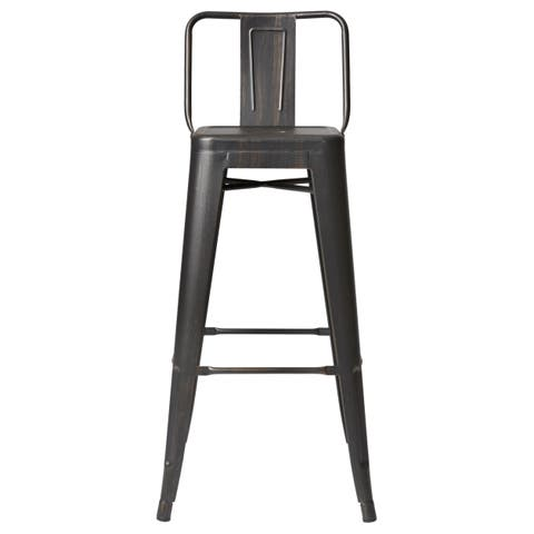 Carbon Loft Ruska Steel  Inch Bar Stool Set Of