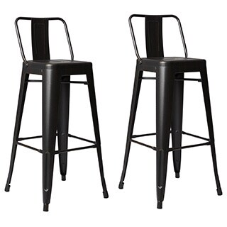 Clay Alder Home Coal Creek Steel 30-inch Bar Stool (Set of 2)