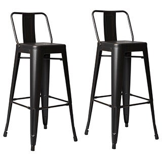 Clay Alder Home Coal Creek Steel 30-inch Bar Stool (Set of 2) (3 options available)