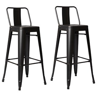 Amazing Clay Alder Home Coal Creek Steel 30 Inch Bar Stool (Set Of 2)