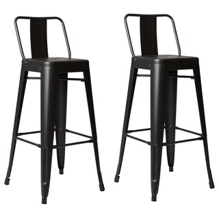 Clay Alder Home Coal Creek Steel 30-inch Bar Stool (Set of 2) (Option: White)