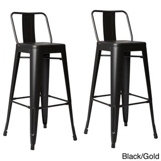 Clay Alder Home Coal Creek Steel 30-inch Bar Stool (Set of 2) (2 options available)