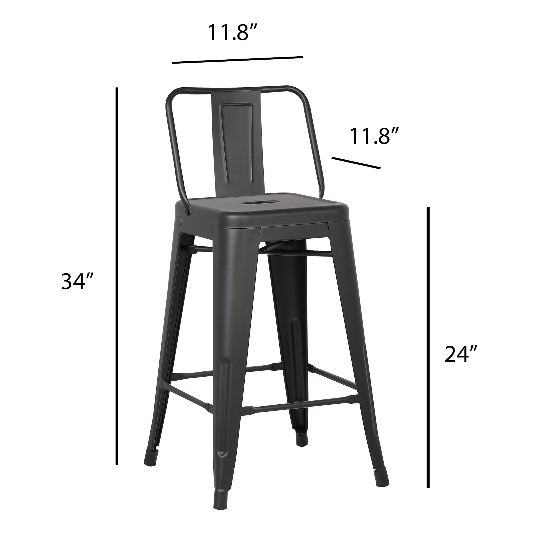 24 Inch Metal Bar Stool