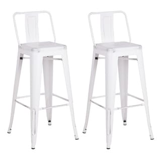 Link to Metal Industrial 24-inch Bar Stool (Set of 2) Similar Items in Dining Room & Bar Furniture