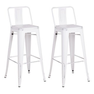 Steel 24 Inch Bar Stool (Set of 2) - N/A