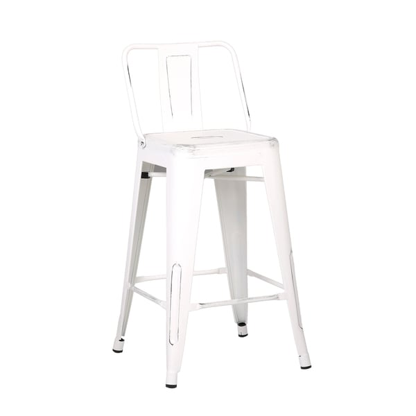 Shop Steel 24 Inch Bar Stool Set Of 2 On Sale Free Shipping