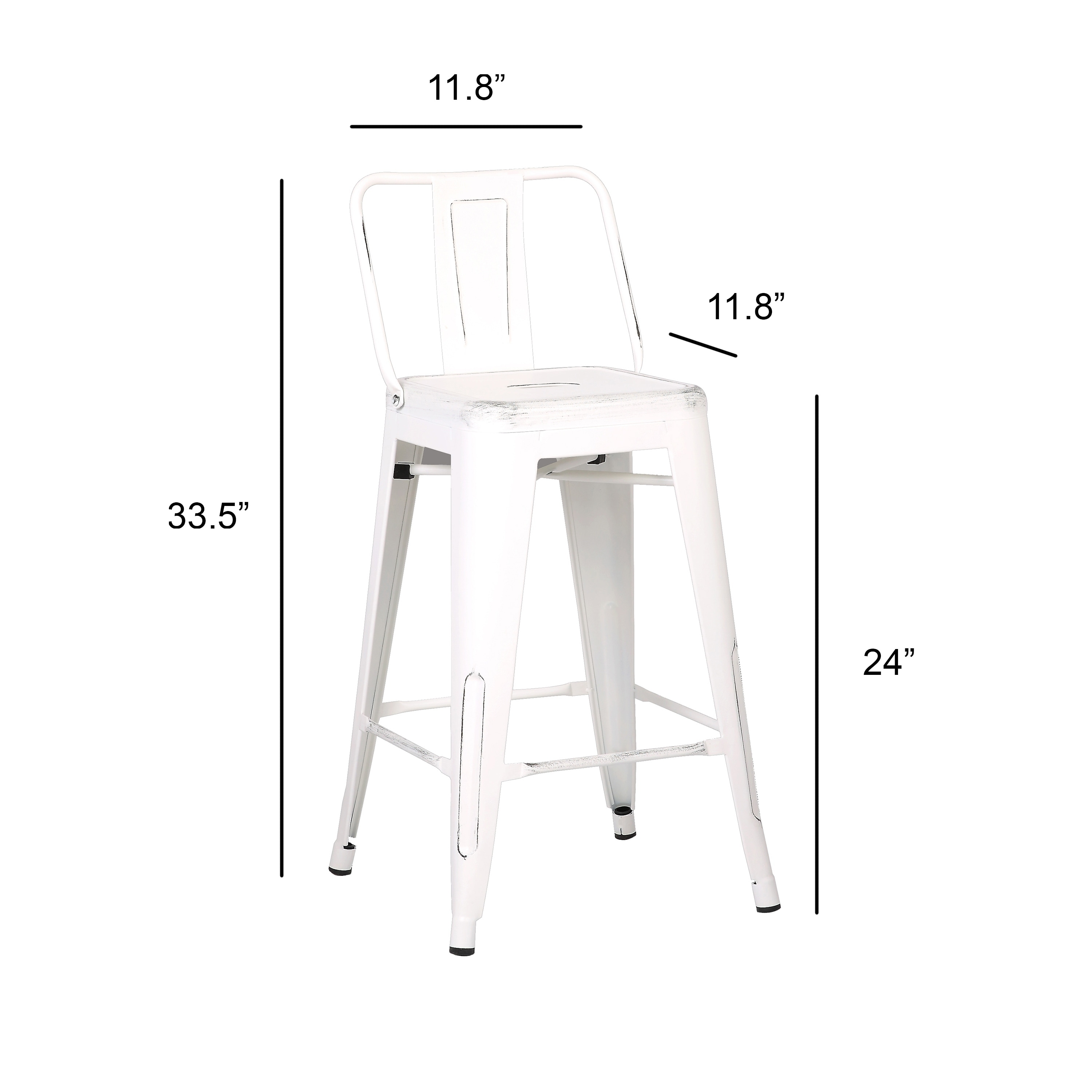Sensational 24 Inch Industrial Metal Barstool Set Of 2 Ibusinesslaw Wood Chair Design Ideas Ibusinesslaworg