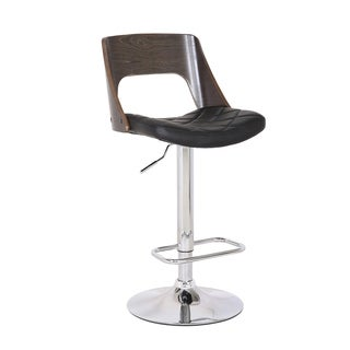 Link to Mid Century Modern Wood/ Metal Adjustable Swivel Barstool Similar Items in Dining Room & Bar Furniture