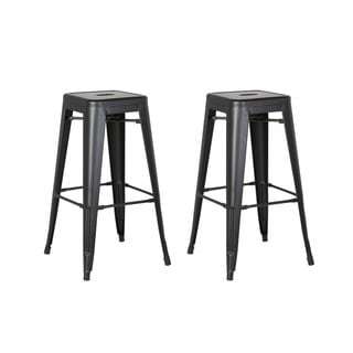 Steel 30 Inch Backless Bar Stool (Set of 2)