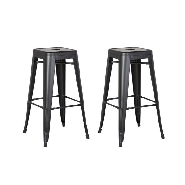 Steel 24 Inch Bar Stool Set Of 2 Free Shipping Today