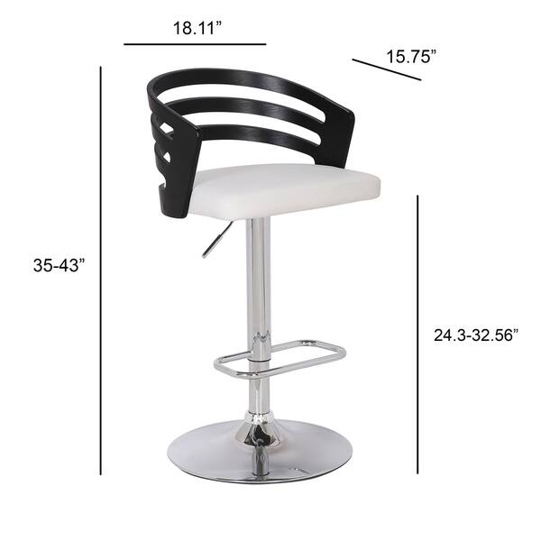 Admirable Shop Bentwood Modern Contemporary Adjustable Bar Stool Ibusinesslaw Wood Chair Design Ideas Ibusinesslaworg