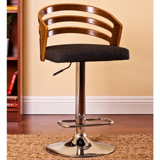 Bentwood Black Walnut Adjustable Bar Stool