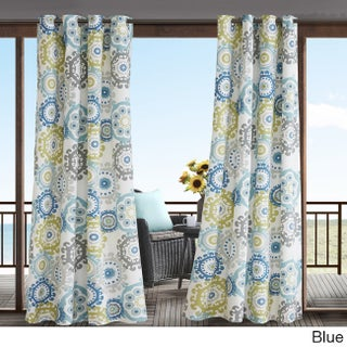 Madison Park Carmel Printed Medallion 3M Scotchgard Water Repellent and Stain Resistant Outdoor Grommet Top Curtain Panel (More options available)