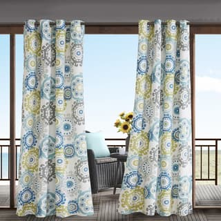 Madison Park Carmel Printed Medallion 3M Scotchgard Water Repellent and Stain Resistant Outdoor Grommet Top Curtain Panel|https://ak1.ostkcdn.com/images/products/11718139/P18638961.jpg?impolicy=medium