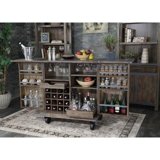 Rieshel Industrial Style Bar Cabinet