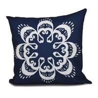 Ikat Mandala Geometric 18 x 18-inch Outdoor Pillow
