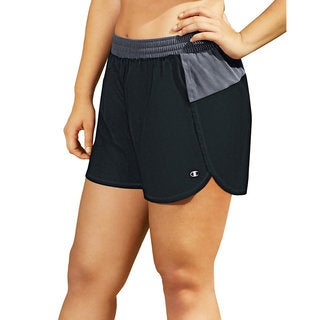Women's Champion Plus Size Sport Shorts in Black and Grey