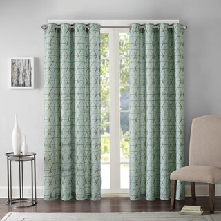 Madison Park Adrian Printed Grommet Top Curtain Panel