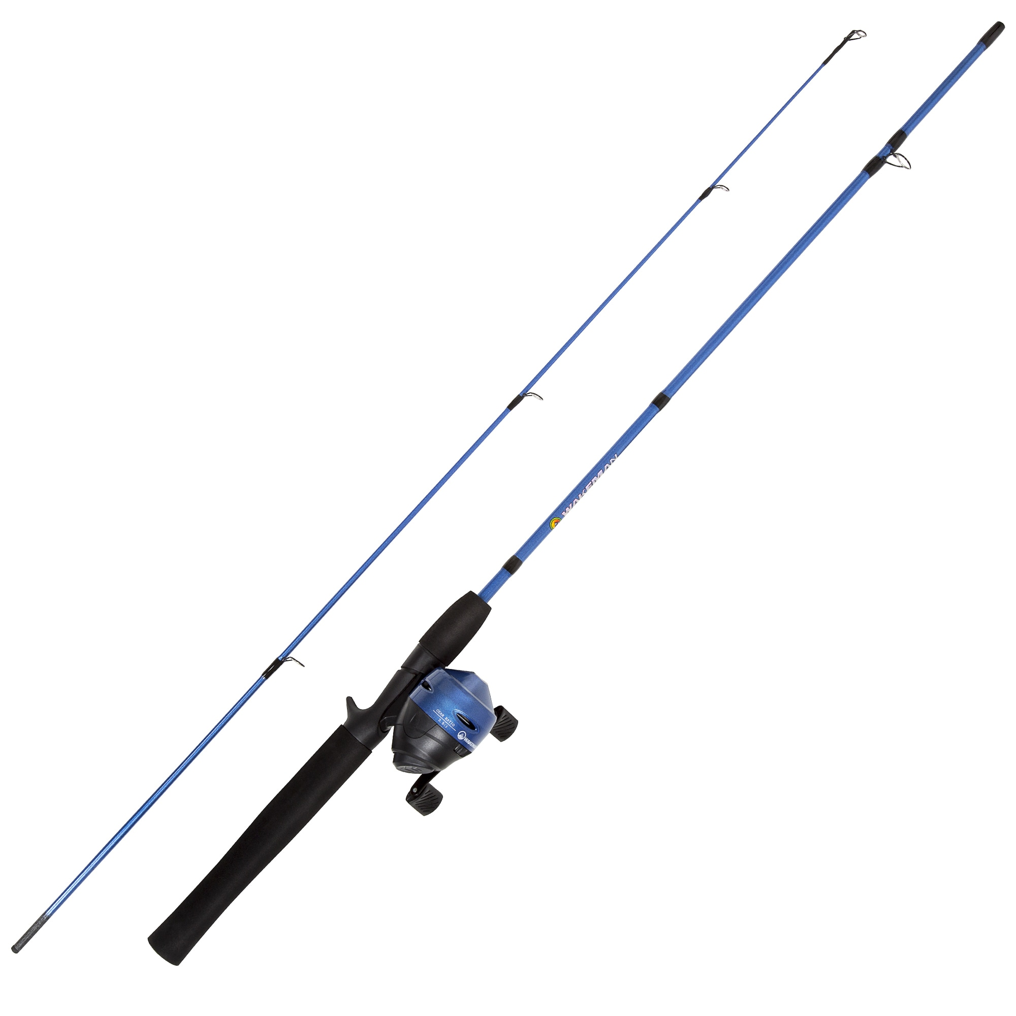 Wakeman Swarm Series Spincast Rod and Reel Combo (Blue Metallic)