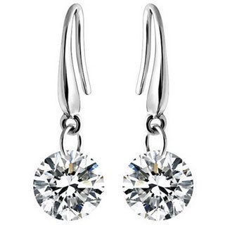 Silver Overlay 2ct TGW Austrian Crystal Earrings