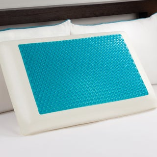 Comfort Memories Blue Bubble Gel and Memory Foam Pillow