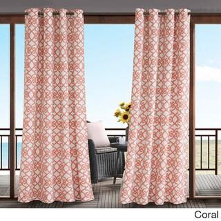 Madison Park Crystal Printed Fretwork 3M Scotchgard Indoor/ Outdoor Curtain Panel