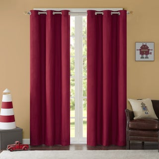 Mi Zone Adam Solid Grommet Top Curtain Panel Pair