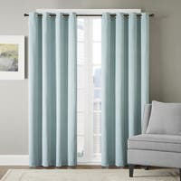 Madison Park Hayden Chevron Jacquard Grommet Top Window Curtain Panel