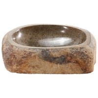 Lucki-LS Large Natural River Stone Sink