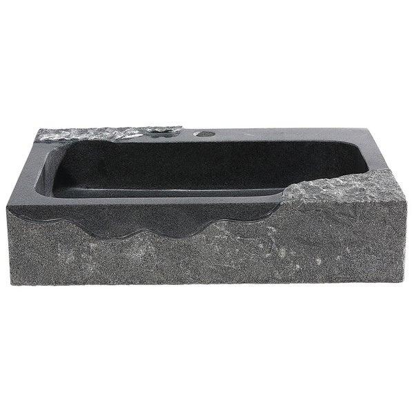 Enjoyable Shop Aa Warehousing Jaki Artistic Black Granite Vessel Sink Download Free Architecture Designs Photstoregrimeyleaguecom