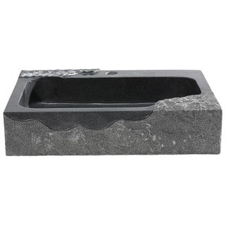 Vessel kitchen sinks for less overstock y decor jaki artistic black granite vessel sink workwithnaturefo